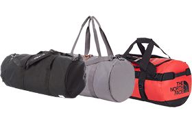 The North Face duffel bags